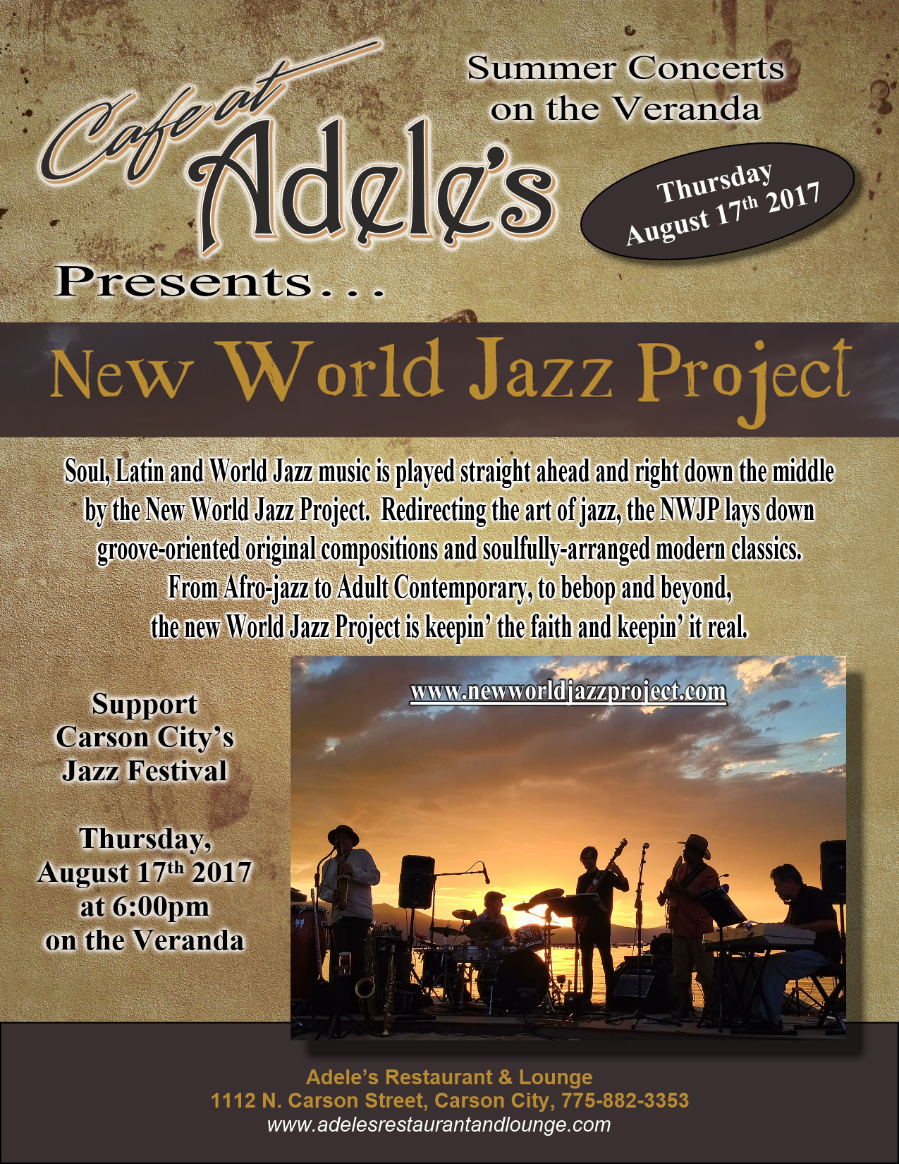 2017 jazz festival – cafe at adele's