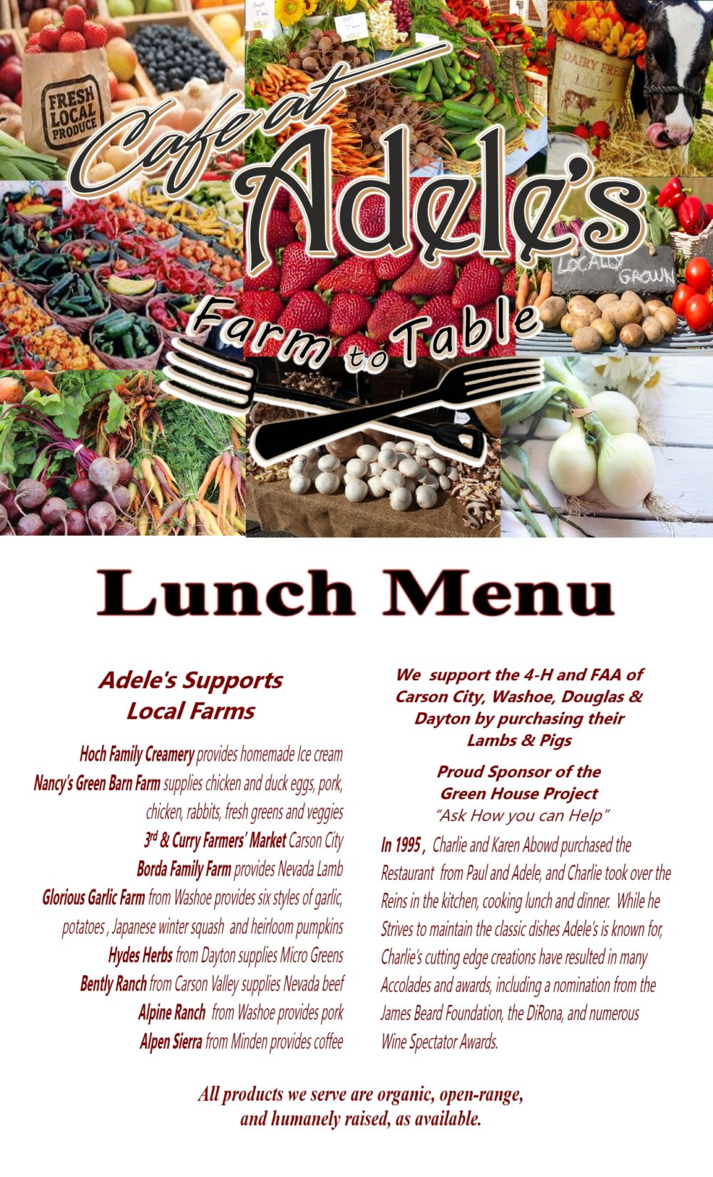 New Lunch Menu Cover 8-2017