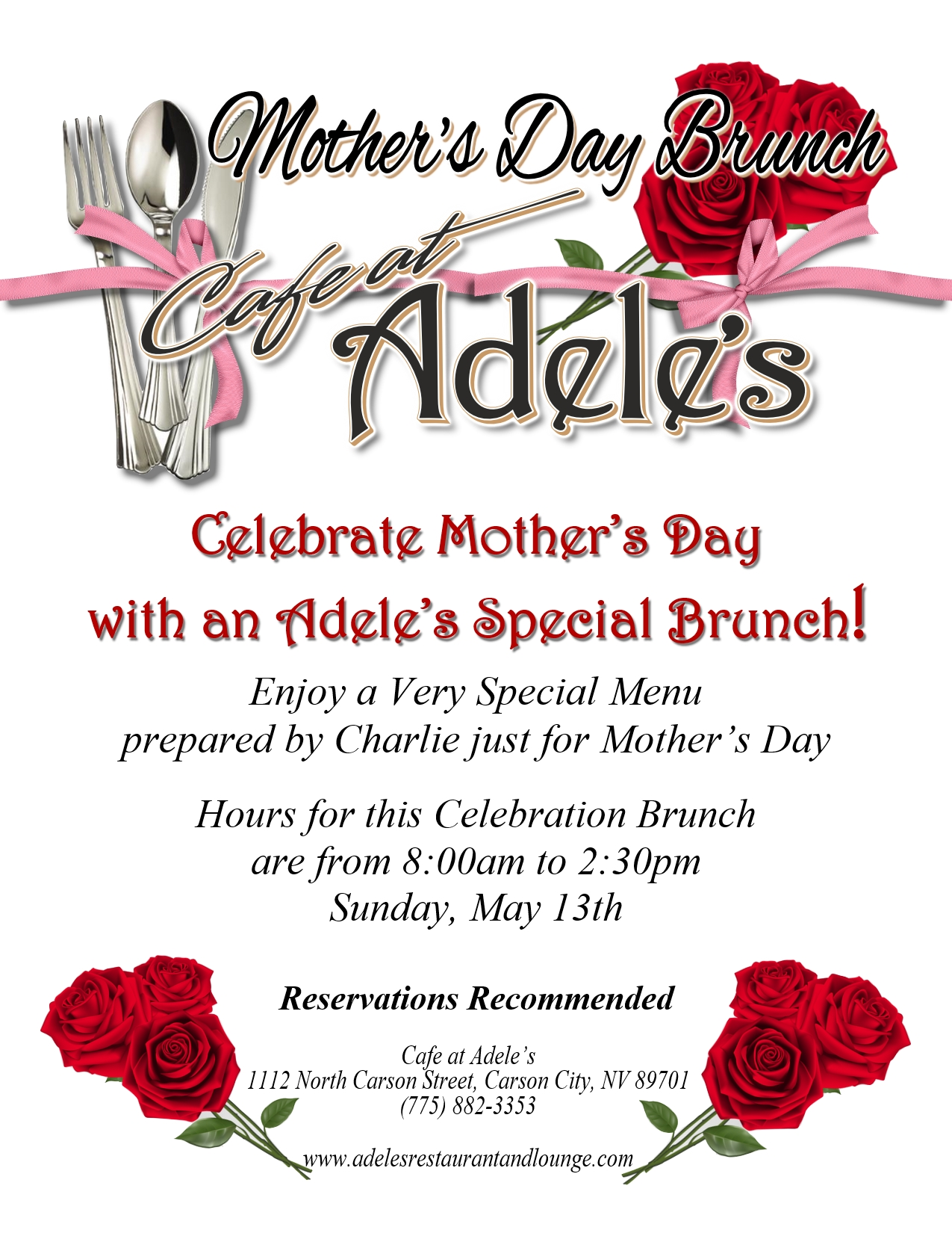 Mothers Day Special Brunch Cafe At Adeles